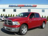 2010 Inferno Red Crystal Pearl Dodge Ram 1500 Big Horn Crew Cab 4x4 #65853765