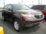 2011 Dark Cherry Kia Sorento LX AWD #65853091