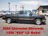 2005 Dark Gray Metallic Chevrolet Silverado 1500 LS Extended Cab 4x4 #65853672