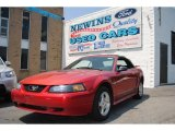 2002 Torch Red Ford Mustang V6 Convertible #65853636