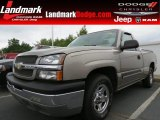 2003 Light Pewter Metallic Chevrolet Silverado 1500 Regular Cab #65802076
