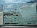 2012 Toyota Tundra Texas Edition CrewMax Window Sticker