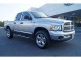 2005 Bright Silver Metallic Dodge Ram 1500 SLT Quad Cab 4x4 #65915708