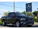 2010 Brilliant Black Crystal Pearl Dodge Ram 1500 Big Horn Quad Cab 4x4 #65916291