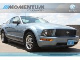 2005 Windveil Blue Metallic Ford Mustang V6 Deluxe Coupe #65916270
