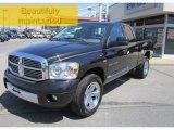 2007 Brilliant Black Crystal Pearl Dodge Ram 1500 Laramie Quad Cab 4x4 #65915965