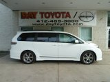 2011 Blizzard White Pearl Toyota Sienna SE #65915586