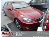 2008 Matador Red Mica Lexus IS 250 #65915844