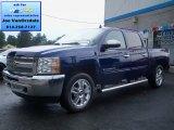 2012 Blue Topaz Metallic Chevrolet Silverado 1500 LT Crew Cab 4x4 #65970396