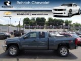 2012 Blue Granite Metallic Chevrolet Silverado 1500 LT Extended Cab 4x4 #65971158