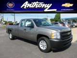 2012 Graystone Metallic Chevrolet Silverado 1500 Work Truck Extended Cab 4x4 #65971156
