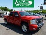2009 Victory Red Chevrolet Silverado 1500 LT Z71 Crew Cab 4x4 #65971007