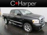 2008 Brilliant Black Crystal Pearl Dodge Ram 1500 Laramie Quad Cab 4x4 #65970995