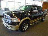 2012 Black Dodge Ram 1500 Laramie Longhorn Crew Cab 4x4 #65916030