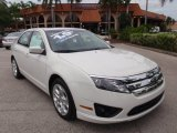 2011 Ford Fusion White Suede