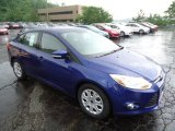 2012 Sonic Blue Metallic Ford Focus SE Sedan #66043455