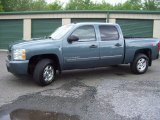 2008 Blue Granite Metallic Chevrolet Silverado 1500 LTZ Crew Cab 4x4 #66043448