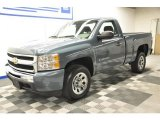 2010 Blue Granite Metallic Chevrolet Silverado 1500 LS Regular Cab #66043723