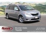 2012 Silver Sky Metallic Toyota Sienna LE #66043330