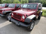 2012 Deep Cherry Red Crystal Pearl Jeep Wrangler Sport 4x4 #66043634