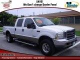 2004 Oxford White Ford F250 Super Duty Lariat Crew Cab 4x4 #66075567