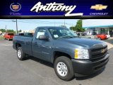 2012 Blue Granite Metallic Chevrolet Silverado 1500 Work Truck Regular Cab 4x4 #66080467