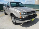2004 Silver Birch Metallic Chevrolet Silverado 1500 Regular Cab #66080159