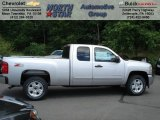 2012 Silver Ice Metallic Chevrolet Silverado 1500 LT Extended Cab 4x4 #66080087