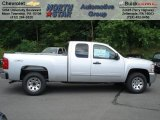 2012 Silver Ice Metallic Chevrolet Silverado 1500 LS Extended Cab 4x4 #66080086