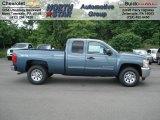 2012 Blue Granite Metallic Chevrolet Silverado 1500 LS Extended Cab 4x4 #66080075