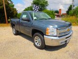 2012 Blue Granite Metallic Chevrolet Silverado 1500 LS Regular Cab #66122344