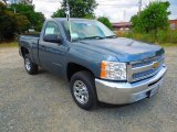 2012 Blue Granite Metallic Chevrolet Silverado 1500 LS Regular Cab #66122343