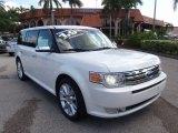 2010 White Platinum Tri-Coat Metallic Ford Flex Limited #66121923