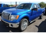 2012 Blue Flame Metallic Ford F150 XLT SuperCab 4x4 #66122295