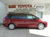 2012 Salsa Red Pearl Toyota Sienna LE AWD #66121809