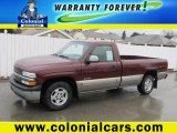2002 Dark Carmine Red Metallic Chevrolet Silverado 1500 LS Regular Cab #66122632