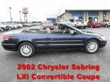 2002 Deep Sapphire Blue Pearl Chrysler Sebring LXi Convertible #66122576