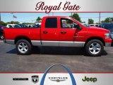 2007 Flame Red Dodge Ram 1500 SLT Quad Cab 4x4 #66122559