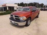 2009 Sunburst Orange Pearl Dodge Ram 1500 ST Quad Cab #66080218