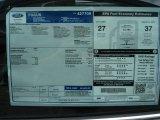 2012 Ford Focus SEL Sedan Window Sticker