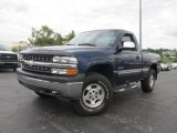 2002 Indigo Blue Metallic Chevrolet Silverado 1500 LS Regular Cab 4x4 #66079996