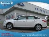 2012 White Platinum Tricoat Metallic Ford Focus SEL Sedan #66079960