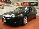 2010 Crystal Black Pearl Acura TSX V6 Sedan #66122448
