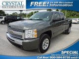 2011 Steel Green Metallic Chevrolet Silverado 1500 LS Extended Cab 4x4 #66122351