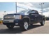 2009 Imperial Blue Metallic Chevrolet Silverado 1500 LT Extended Cab 4x4 #66208015
