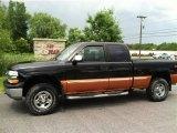 2001 Onyx Black Chevrolet Silverado 1500 LS Extended Cab 4x4 #66207893