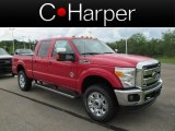 2012 Vermillion Red Ford F350 Super Duty Lariat Crew Cab 4x4 #66207399