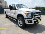 2012 White Platinum Metallic Tri-Coat Ford F250 Super Duty Lariat Crew Cab 4x4 #66207786