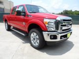 2012 Vermillion Red Ford F250 Super Duty Lariat Crew Cab 4x4 #66207785