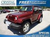 2010 Red Rock Crystal Pearl Jeep Wrangler Sahara 4x4 #66208084